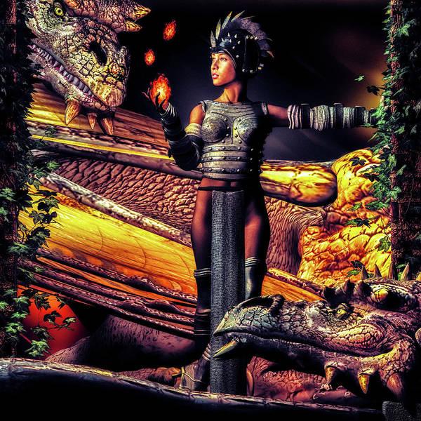 Wall Art - Digital Art - Playing With Fire by Bob Orsillo