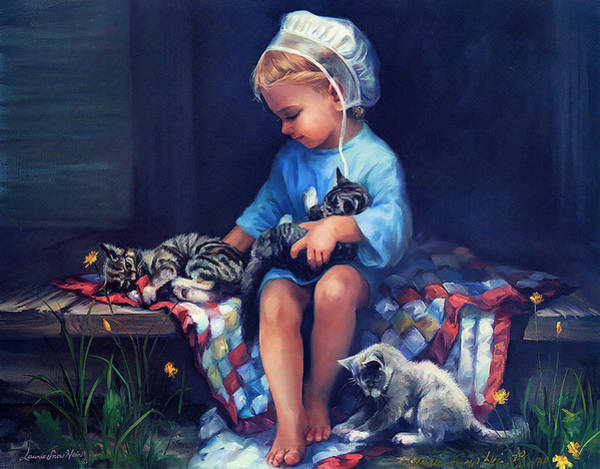 Wall Art - Painting - Playmates by Laurie Snow Hein