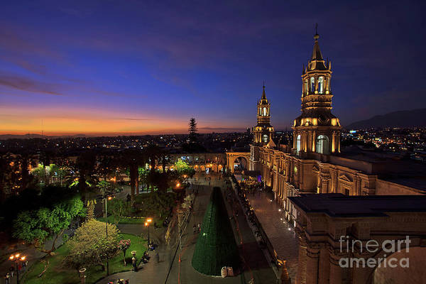 Photograph - Plaza De Armas And Cathedral Of Arequipa, Peru by Sam Antonio Photography