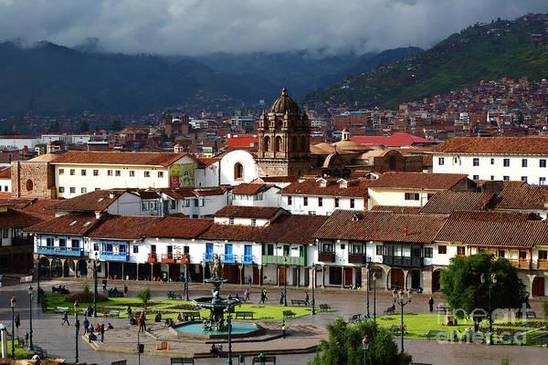 Photograph - Plaza De Armas And La Merced Church Cusco Peru by James Brunker
