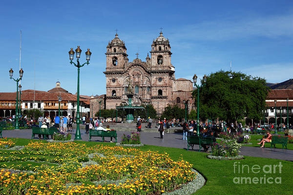 Photograph - Plaza De Armas Cusco Peru by James Brunker