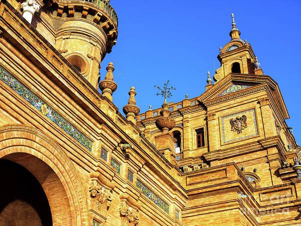 Photograph - Plaza De Espana Building Details In Seville by John Rizzuto