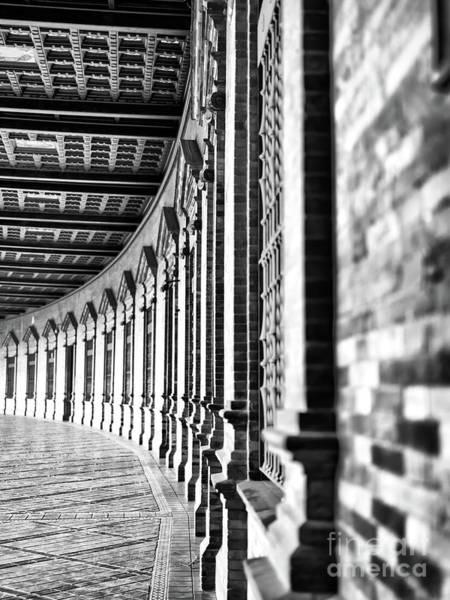 Photograph - Plaza De Espana Lines In Seville by John Rizzuto
