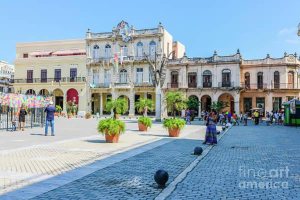 Wall Art - Photograph - Plaza De San Francisco Havana by Cami Photography