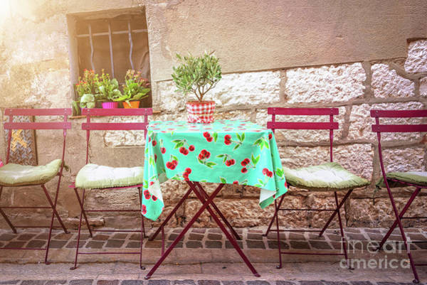 Terrace Photograph - Please Have A Seat by Delphimages Photo Creations
