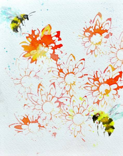 Painting - Please The Bees by Beverley Harper Tinsley