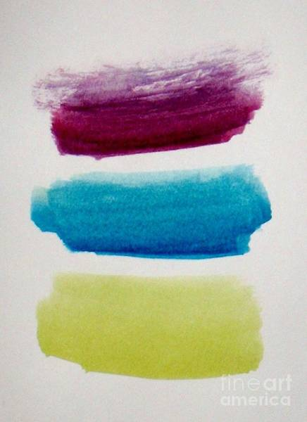 Wall Art - Painting - Plum, Blue, Yellow Abstract Painting - By Vesna Antic by Vesna Antic