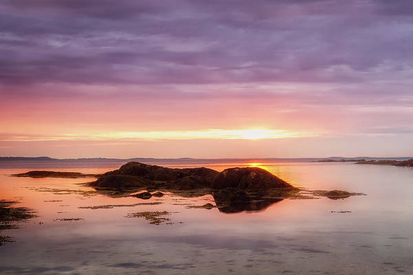 Photograph - Plum Cove Glow, Gloucester Ma. by Michael Hubley