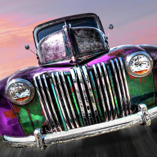 Photograph - Plum Crazy 1942 Rusty Ford Truck by Gill Billington