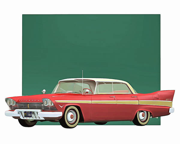 Digital Art - Plymouth Belvedre Sport Sedan 1957 by Jan Keteleer