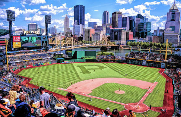 Painting - Pnc Park Pittsburgh Pirates Baseball Ballpark Stadium by Christopher Arndt