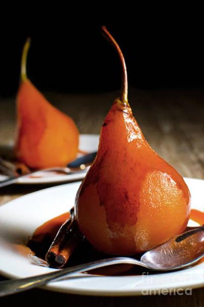 Wall Art - Photograph - Poached Pears With Cinnamon Syrup by Mehul Naik