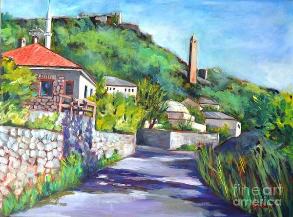 Painting - Pocitelji - A Heritage Village In Bosina by Betty M M Wong