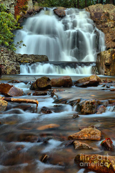 Photograph - Poconos Hawk Falls Portrait by Adam Jewell