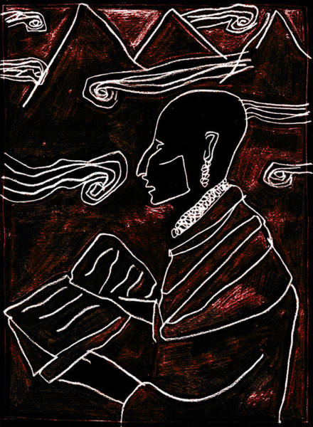 Digital Art - Poet Reading To Wind Clouds 27 by Artist Dot