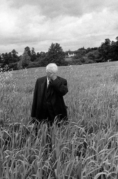 Poet Photograph - Poet Robert Frost Standing In Oxford by Howard Sochurek