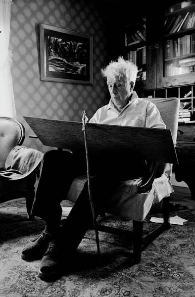 Vermont Photograph - Poet Robert Frost Writing At Home by Alfred Eisenstaedt