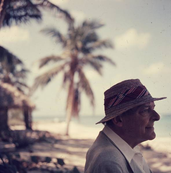 Straw Hat Photograph - Poets Paradise by Slim Aarons