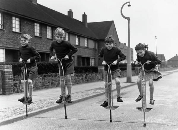 1958 Photograph - Pogo Quads by George Hales