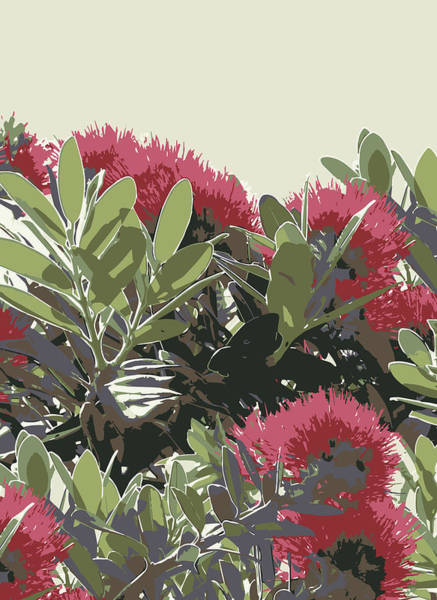 Painting - Pohutukawa New Zealand Christmas Tree by Jocelyn Friis