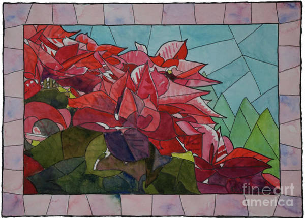 Painting - Poinsettia In The Sun by Ralph F Wilson