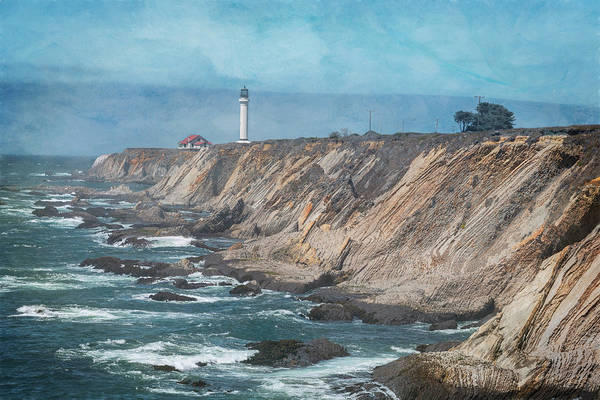 Photograph - Point Arena Lighthouse California Textured by Joan Carroll