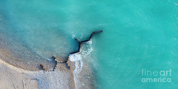 Download Photograph - Point Betsie Beach And Breakwall Aerial by Twenty Two North Photography