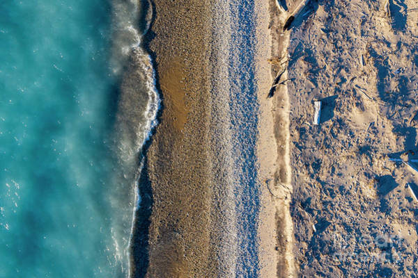 Download Photograph - Point Betsie Blue Waters Aerial by Twenty Two North Photography