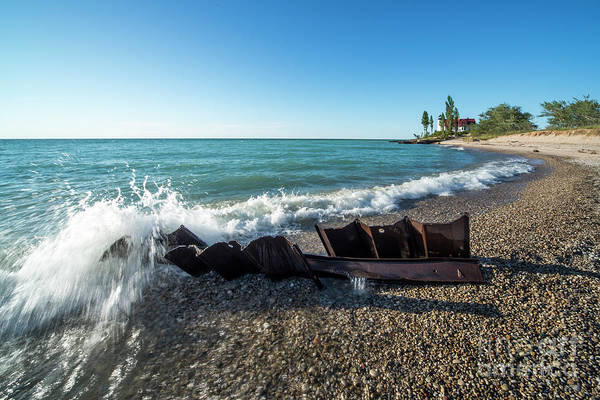 Wall Art - Photograph - Point Betsie Incoming Waves by Twenty Two North Photography