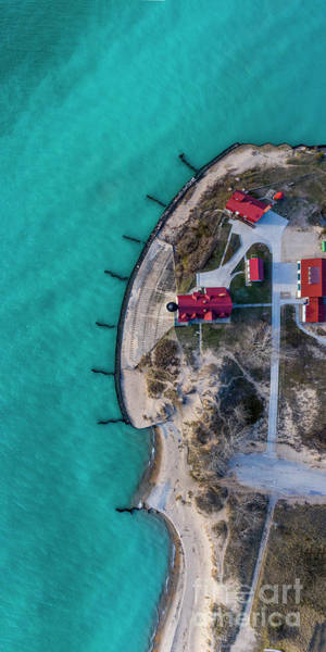 Download Photograph - Point Betsie Lighthouse 1x2 Aerial by Twenty Two North Photography
