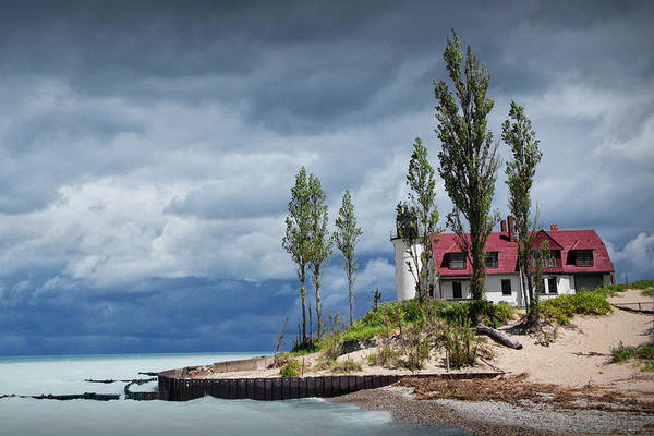 Photograph - Point Betsie Lighthouse After A Storm On Lake Michigan by Randall Nyhof