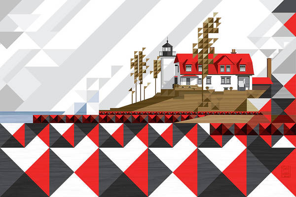 Lighthouses Digital Art - Point Betsie-michigan 2018_v4-final by Garth Glazier