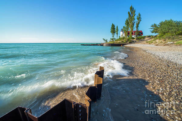 Wall Art - Photograph - Point Betsie Shoreline And Waves In Summer by Twenty Two North Photography
