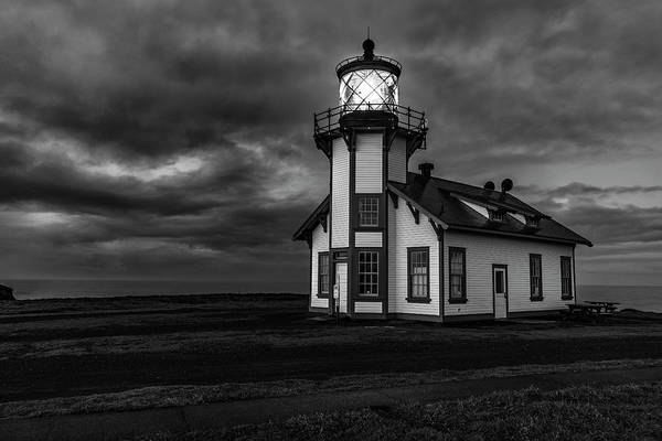 Photograph - Point Cabrillo Light Station - Bw - 2 by Jonathan Hansen
