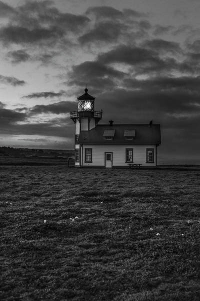 Photograph - Point Cabrillo Light Station - Bw - 3 by Jonathan Hansen