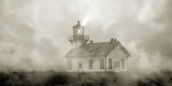 Wall Art - Photograph - Point Cabrillo Lighthouse California Sepia by Betsy Knapp