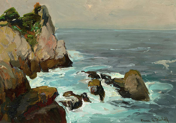 Wall Art - Painting - Point Lobos Coast by Franz Bischoff