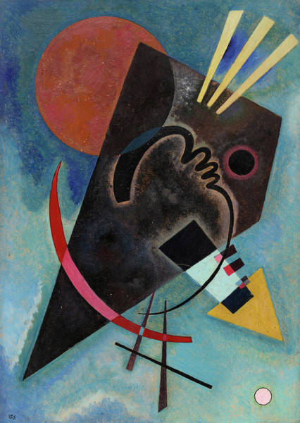 Wall Art - Painting - Pointed And Round - Spitz Und Rund by Wassily Kandinsky