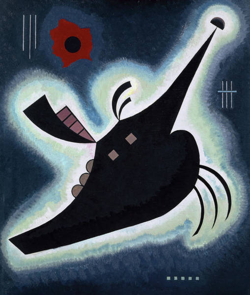 Wall Art - Painting - Pointed Black, 1931 by Wassily Kandinsky