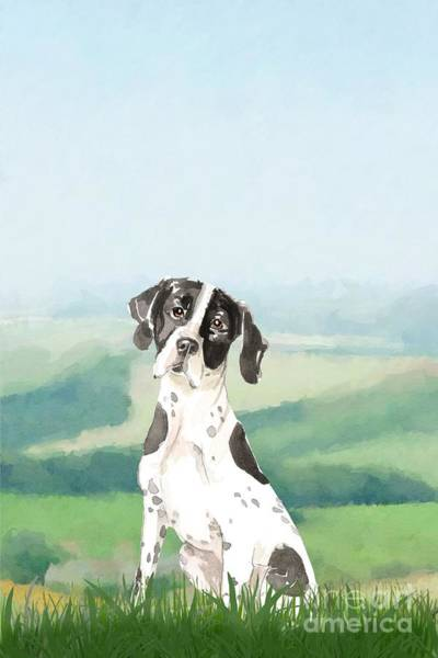 Pedigree Painting - Pointer by John Edwards