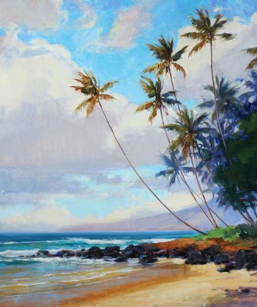 Wall Art - Painting - Poipu Palms Vertical by Jenifer Prince