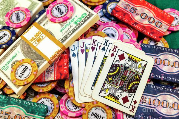 Photograph - Poker Royal Men by John Rizzuto