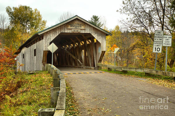 Photograph - Poland Covered Bridge by Adam Jewell