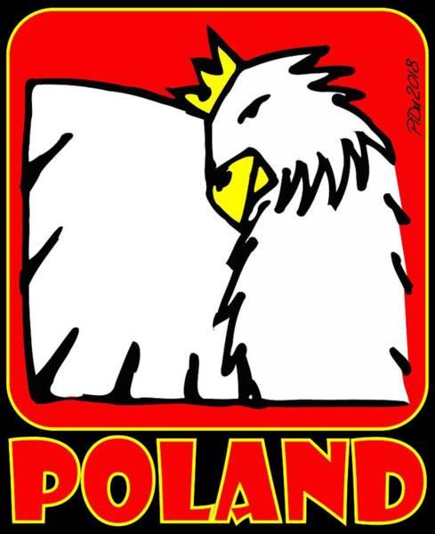 Digital Art - Poland Eagle by Piotr Dulski