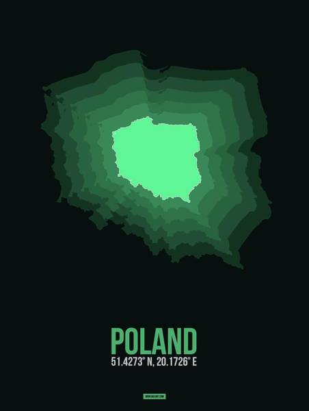 Wall Art - Digital Art - Poland Radiant Map I by Naxart Studio