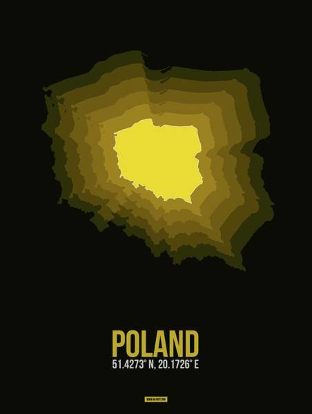 Wall Art - Digital Art - Poland Radiant Map II by Naxart Studio