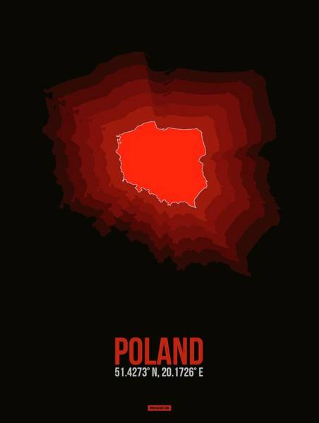 Wall Art - Digital Art - Poland Radiant Map 3 by Naxart Studio