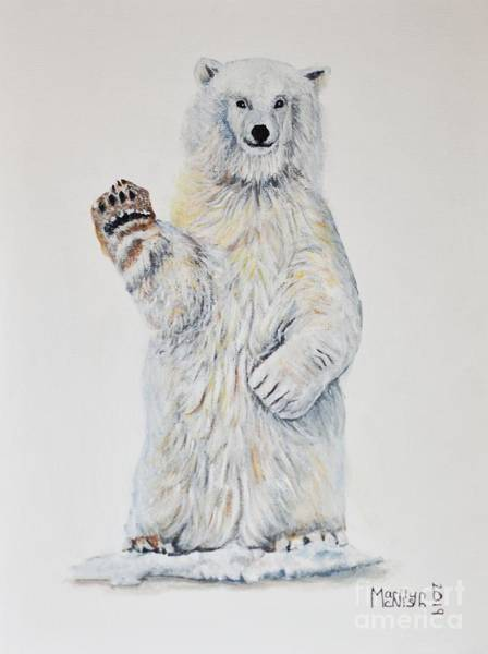 Painting - Polar Bear Baby 2 by Marilyn McNish