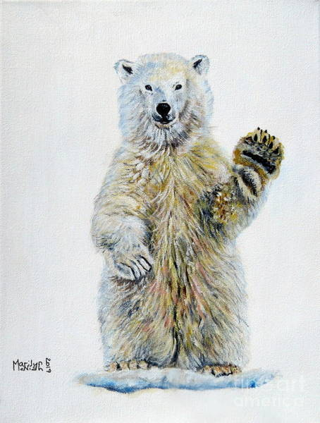 Painting - Polar Bear Baby by Marilyn McNish