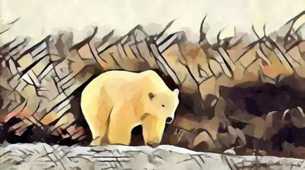 Wall Art - Painting - Polar Bear by Chris Butler